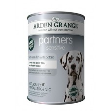 Arden Grange PARTNERS SENSITIVE - fresh white fish and potato - 6 x 395g OUT OF STOCK